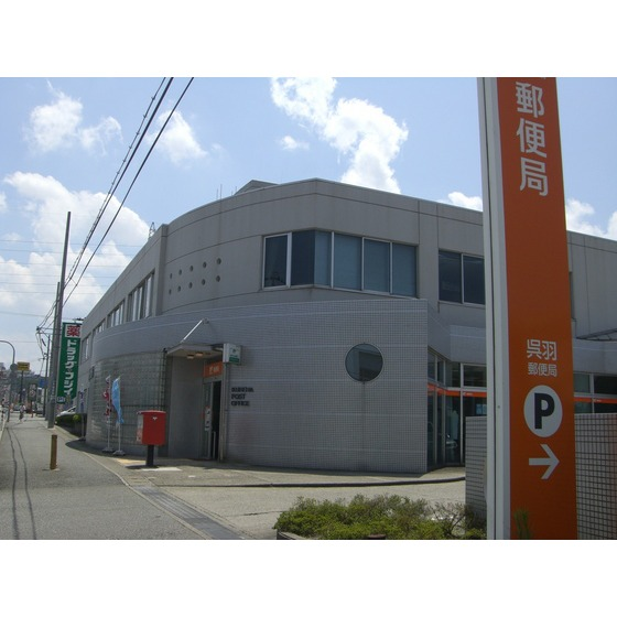 呉羽郵便局(670m)