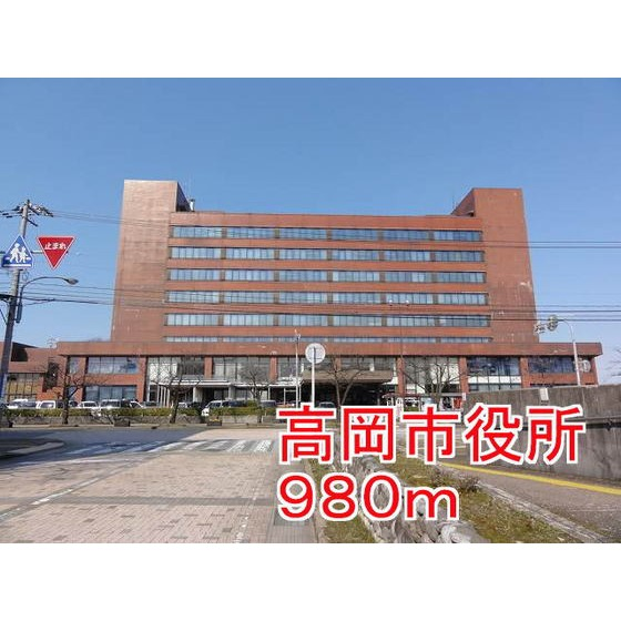 高岡市役所(2,181m)