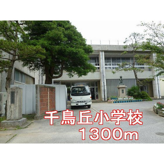 千鳥丘小学校(1,300m)