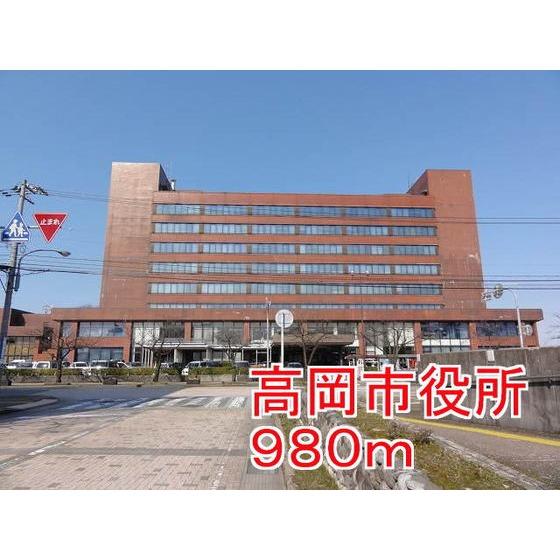 高岡市役所(1,392m)